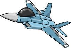 Jet Fighter Vector Illustration. Blue Jet Fighter Vector Illustration Royalty Free Stock Photography