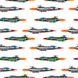 Jet-fighter on white. Royalty Free Stock Photos