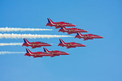 Jet fighters in formation Royalty Free Stock Photography