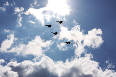 Jet Fighters on high speed Royalty Free Stock Photo