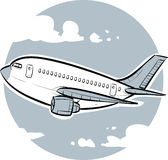 Jet Flight Stock Photo