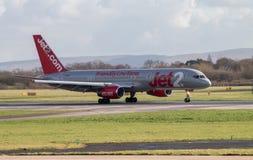 Jet2 flygbolag Boeing 757 Royaltyfri Fotografi