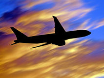 Jet flying Stock Photography