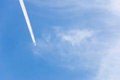 Jet flying on sky Royalty Free Stock Photos