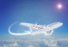 Jet flying in sky Stock Images