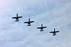 Jet formation royalty free stock photos