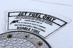 Jet fuel label Stock Photography