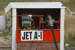 Jet Fuel Pump. Pump for aviation fuel type Jet A-1 royalty free stock images