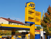 Jet fuel station Royalty Free Stock Image