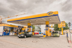 Jet gas station Stock Image