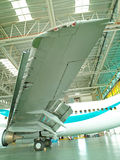 Jet in a hangar Stock Photography