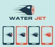 Jet illustration blue Stock Image