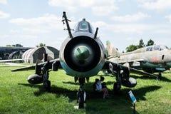 Jet im Luftfahrt-Museum in Krakau lizenzfreie stockfotos