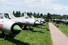 Jet im Luftfahrt-Museum in Krakau lizenzfreie stockbilder