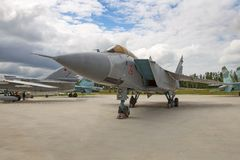 Jet interceptor plane Mikoyan MiG-31 stock photo