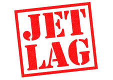 JET LAG. Red Rubber Stamp over a white background Stock Images