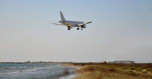 Jet landing Royalty Free Stock Image