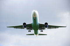 Jet Landing. Jet on its final approach to land stock images