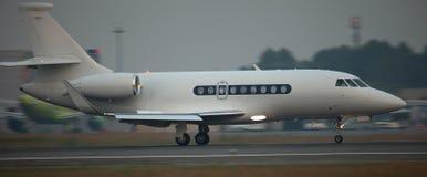 Jet landing Stock Image