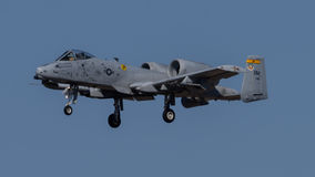 A-10. A10 jet on landing approach to Davis Monthan Air Force Base royalty free stock photo