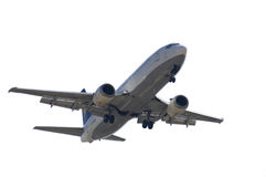 JET LANDING ISOLATED Stock Images