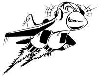 Jet loco del vector ilustración del vector