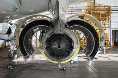 Jet Maintenance-Abschluss oben stockfoto