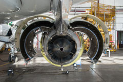 Jet Maintenance close up stock photo