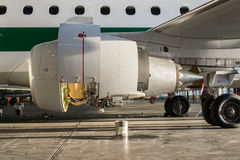 Jet Maintenance close up Royalty Free Stock Photography