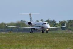 Jet Management Embraer internazionale ERJ-135 Immagine Stock Libera da Diritti