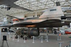 Jet militar en la exhibición Imagenes de archivo