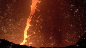 Jet of molten iron with sparks 2 stock footage