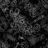 Jet noir de jazz-band Images libres de droits