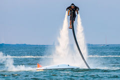 Jet pack lift water entertainment Stock Photos