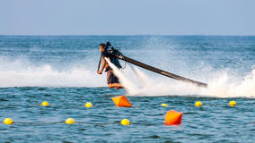 Jet pack on water Stock Photography