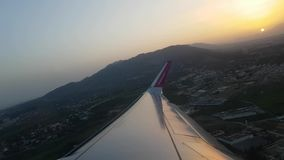 Jet plain departure stock footage