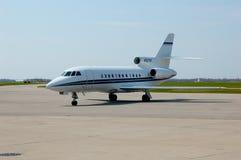 Jet plane. Dassault Falcon 900EX jet plane on runway Royalty Free Stock Image