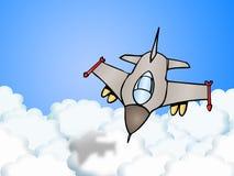 Jet plane. Illustration of a bomber fighter Jet plane Royalty Free Stock Image