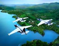 The jet plane Royalty Free Stock Photos