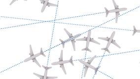 Jet Plane Air Travel (animação dando laços) filme