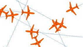 Jet Plane Air Travel (animação dando laços) vídeos de arquivo