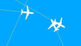 Jet Plane Air Travel (animação dando laços) video estoque