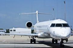 Jet plane in airport Stock Photo
