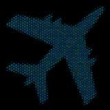 Jet Plane Composition Icon des sphères tramées Illustration Libre de Droits