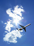 Jet plane in flight 3 Royalty Free Stock Photography