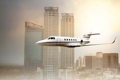 Jet Plane Flying Lizenzfreie Stockfotografie