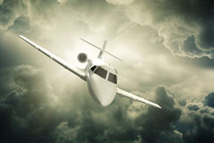 Jet plane flying. Royalty Free Stock Photography