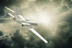 Jet plane flying. Royalty Free Stock Image