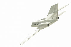 Jet plane flying. Royalty Free Stock Images