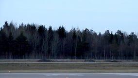 Jet Plane-het landen stock video